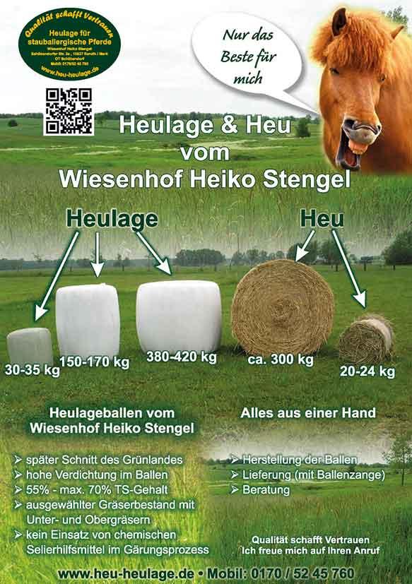 Heu und Heulage Ballengrößen vom Wiesenhof Stengel